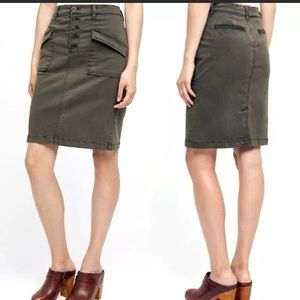 Pilcro And The Letterpress 8 Pencil Skirt Green
